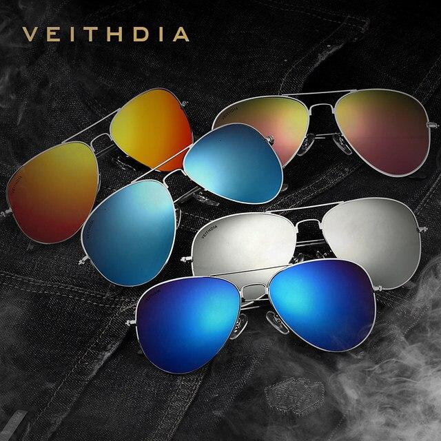 642909b579 VEITHDIA Classic Fashion Polarized Sunglasses Men Women Colorful Reflective  Coating Lens Eyewear Accessories Sun Glasses W1