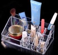Profesional Maquillaje Organizador de Acrílico Transparente 16 Ciñe Lipstickk Expositores Titular Caso Para El Cajón de Caja de Cosméticos De Almacenamiento