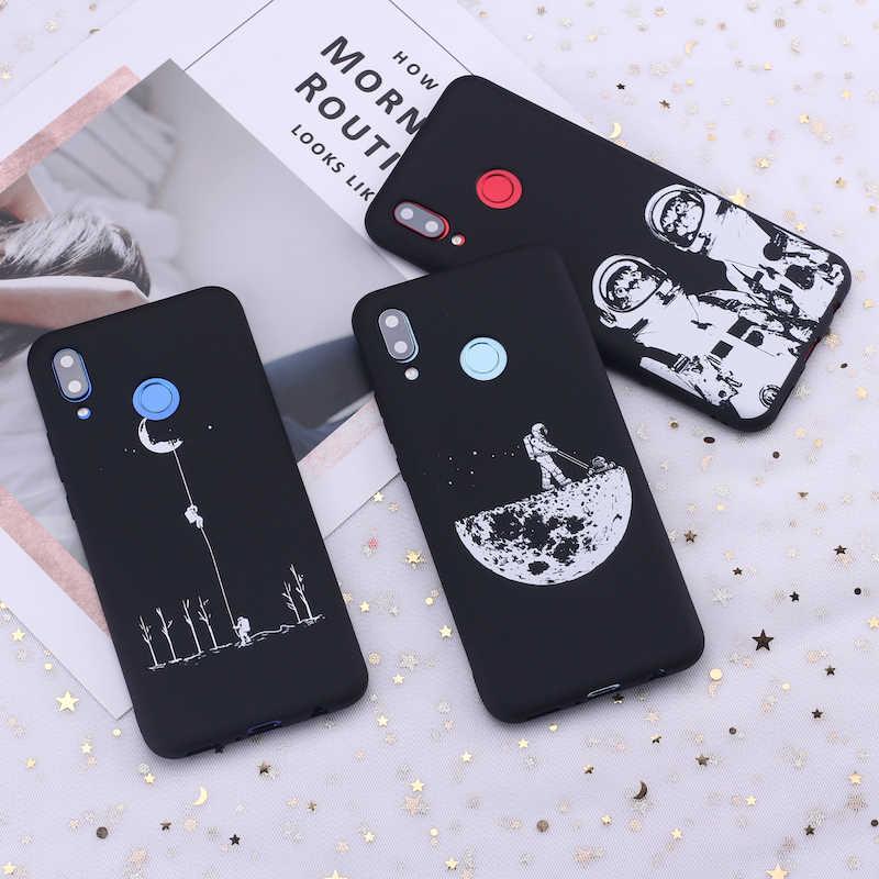 For Xiaomi Mi Redmi Note 5 6 7 8 9 lite Pro Plus  Space Moon Astronaut Stars Candy Silicone Phone Case Cover Capa Fundas Coque