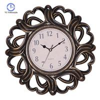3D Wall Clock Modern Design Living Room Decoration Accessories Vintage Retro Lacework Round Wall Clocks Silence