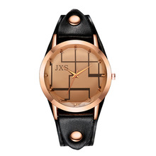 Moda Mujer Leather Band Watch Womens Top Selling Fashion Simple Clock Women Nail Geometric Patterns Ladies Watch Bayan Saat #D