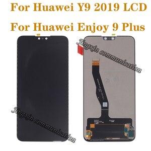 """Image 1 - 6.5 """"Huawei 社 Y9 2019 lcd タッチスクリーンデジタイザ用の元の表示コンポーネント 9 楽しむプラスモニターの交換修理部品"""
