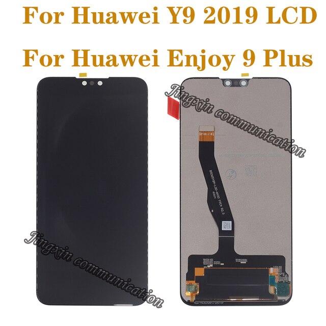 """6.5 """"Huawei 社 Y9 2019 lcd タッチスクリーンデジタイザ用の元の表示コンポーネント 9 楽しむプラスモニターの交換修理部品"""