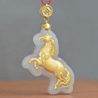 New Style Jadees Necklace For Men Women Animal Horse Hot Pendants Fashionable Jewelry Pendant