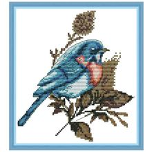Листья птицы DIY ручной работы Рукоделие Счетный 14CT напечатаны крестиком комплект с вышивкой украшения дома