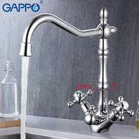 GAPPO 1set Water Filter Taps Brass Kitchen Sink Faucets Colored Kitchen Mixer Tap Drinking Filter Purified