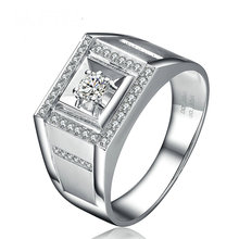 0 20 0 20ct Natural Diamond Ring for Men 18K font b White b font font