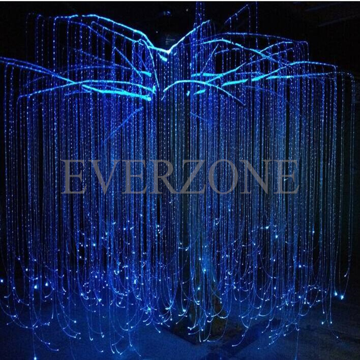 FY750-006 Fiber Optic Light Cables 30pcs 3m Side Pointed Light Fiber Optic Curtain Cable Christmas Decorations For Home