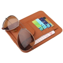 Organizer Storage Sunglasses Card-Holder Car-Accessories Sun-Visor Sunshade