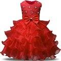 Nuevo Magnífico de la Boda Parte de la Princesa vestido para Las Niñas pequeñas Ropa Vestidos de niña Kids tutu Dress Niños Ropa de Cumpleaños 6 7 8