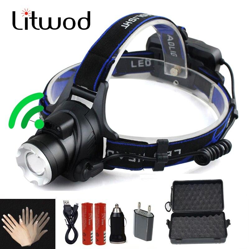 LED Scheinwerfer 5000lm T6/L2 led scheinwerfer zoom kopf taschenlampe einstellbare scheinwerfer Optional zubehör 18650 batterie front licht