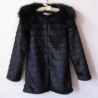 Faux Fur Vest Full Rabbit Fur Coat Hot Sale 2016 New Imitation Fox Collar Paragraph Korean