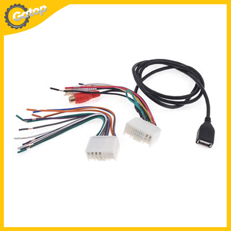 Car Stereo CD Radio Female Tail Tower 1 Wire Harness Adapter 1 USB Cable Electronic Wire wire window picture more detailed picture about car stereo cd wire harness troubleshooting at gsmportal.co