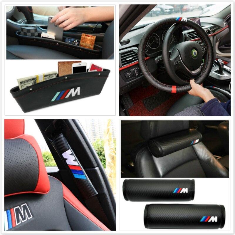 Para BMW X5 X3 X6 E46 E39 E38 E90 E60 E36 F30 F30 E34 F10 F20 E92 E38 E91 E53 e87 M3 Interoir M5 Adesivo M logotipo Do Carro Acessórios