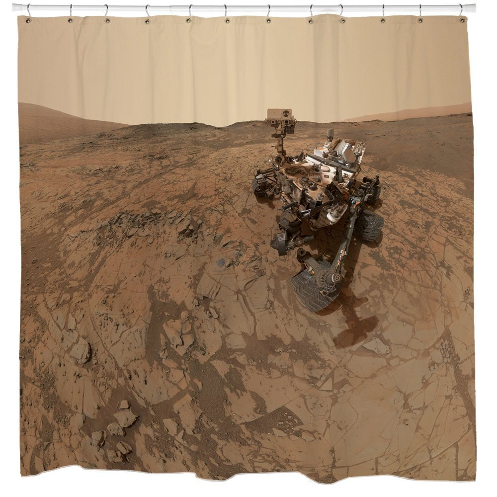 Rover on Mars Shower Curtain
