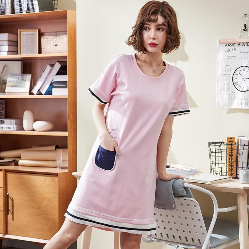 Aliexpress.com : Buy Plus Size M 4XL Cotton Nightgown ...