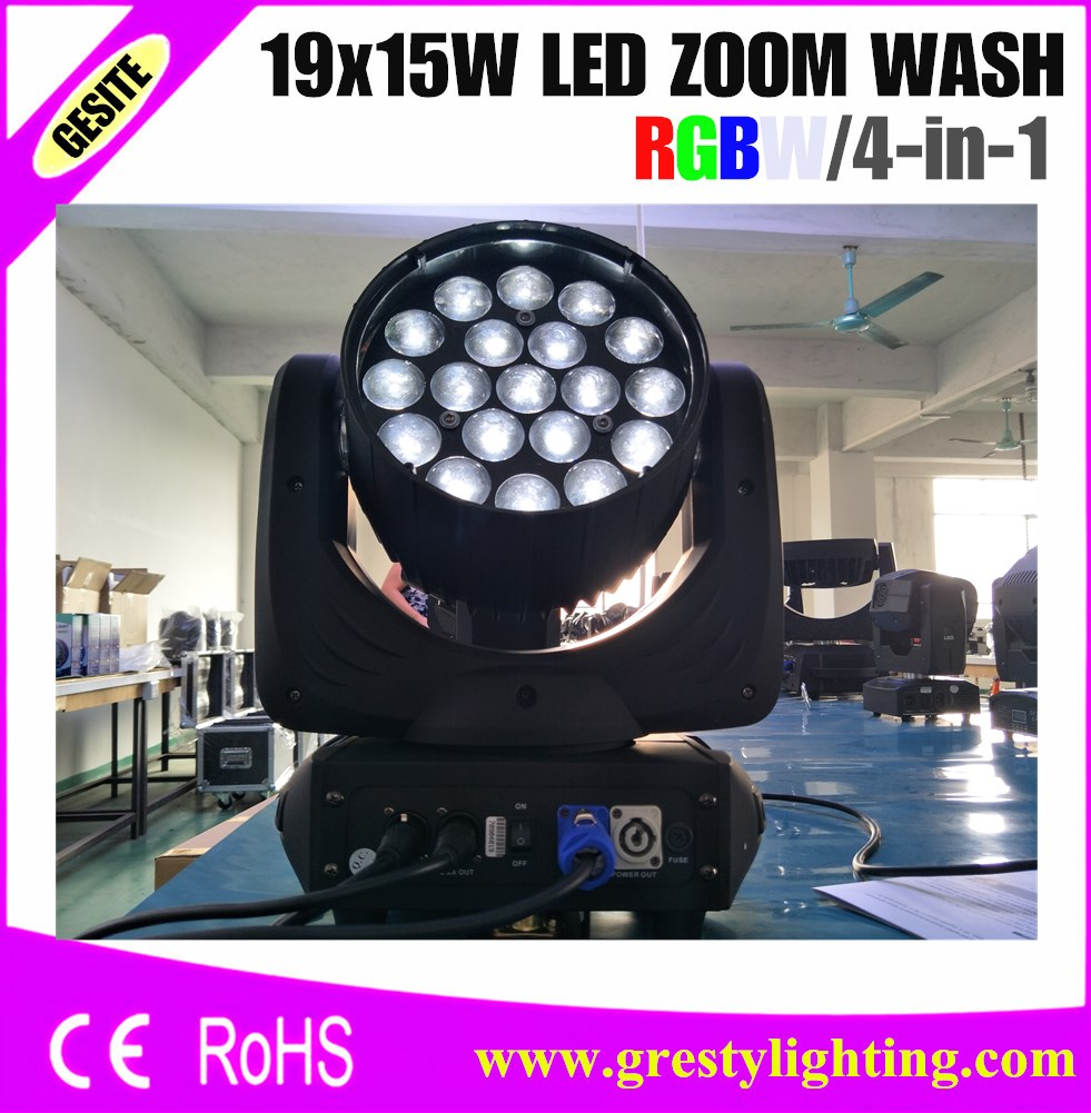 Stage Lighting Effect Lights & Lighting Zoom Function 19x15w Rgbw Wash Lyre Light Led Moving Head Washer Light For Stage Dj /bar /party /show /stage Light Led
