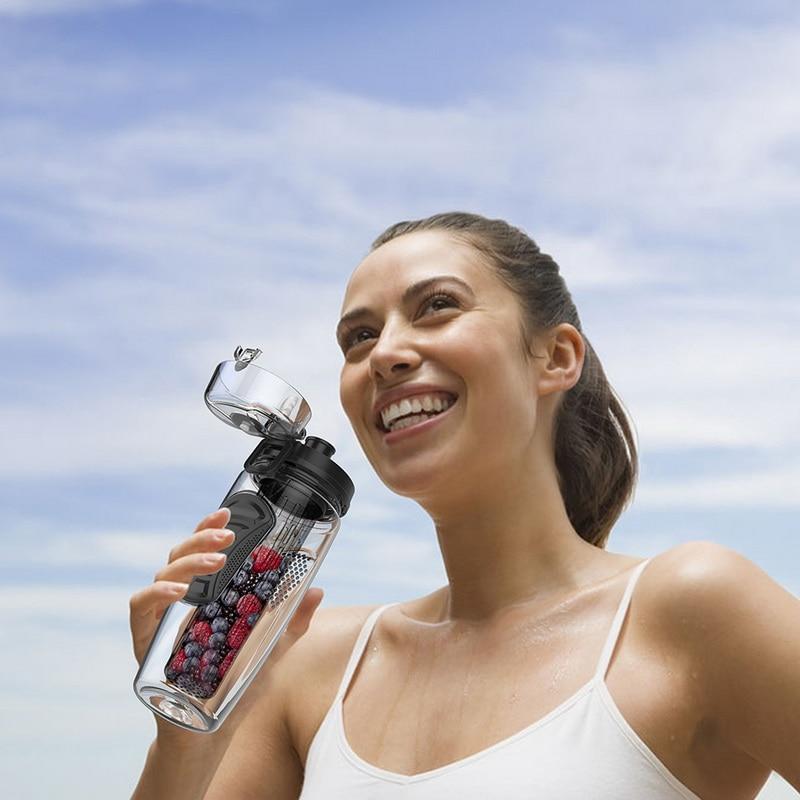 HTB1y0BoVpzqK1RjSZFvq6AB7VXat 1L Portable water bottle Tritan Drinkware Bottle Fruit Infuser Bottle Juice Shaker travel Sport Water Bottle detox bottle