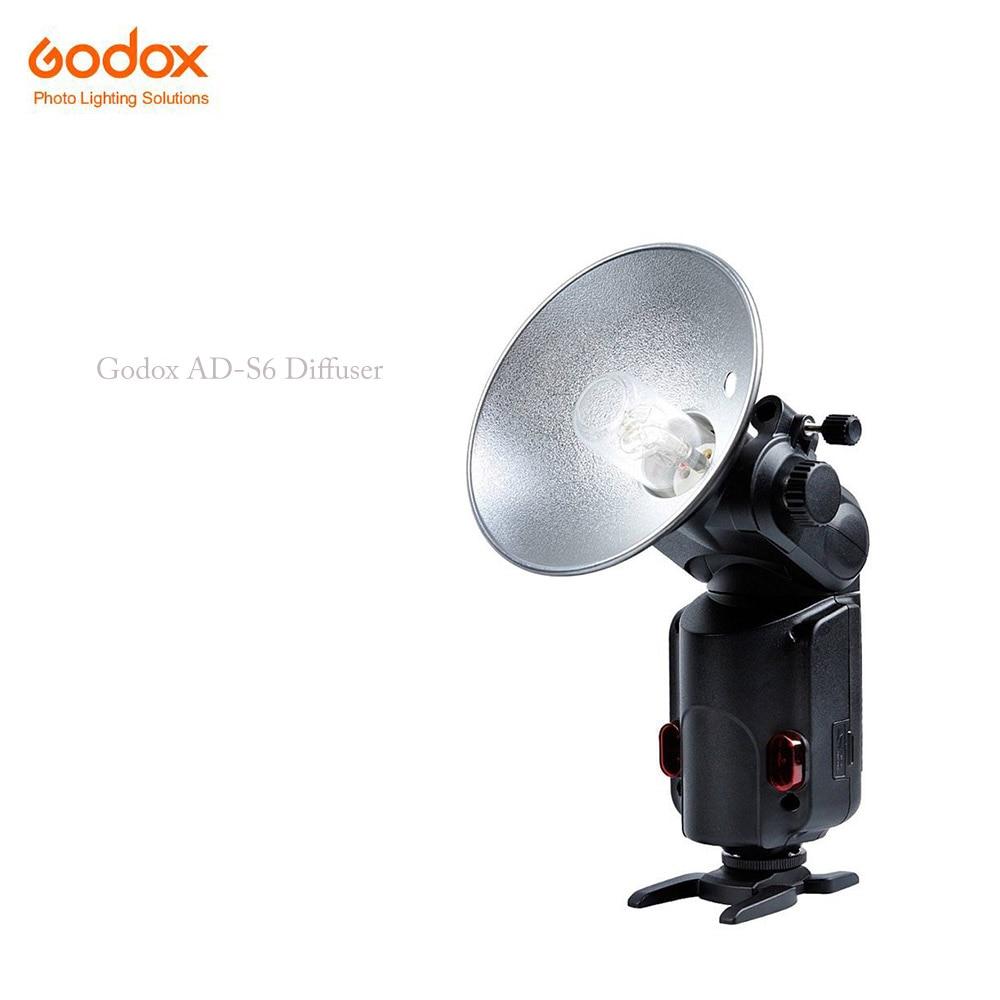 Godox AD-S6 Portable Flash Diffuser Umbrella-type Reflector For Witstro AD180 AD360(Silver+Black) Photography Accessory