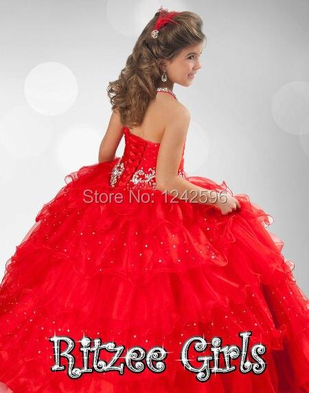 533c17026 Cabestro Vestidos Del Desfile Para Chicas Glitz Puffy Rojo de ...