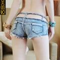 2016 mujeres del verano mujer hollow out denim hotpants sexy femenina ripped jeans shorts señora caliente abajo femme micro mini pantalones cortos