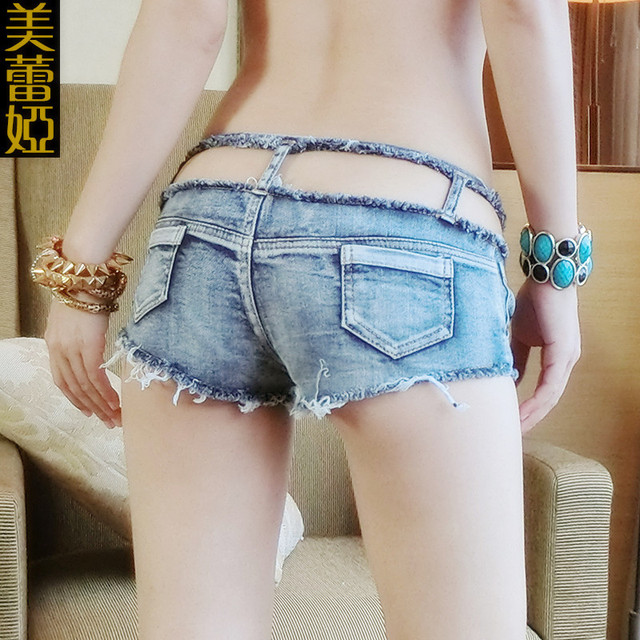 2016 womens summer woman hollow out denim hotpants female sexy jeans booty shorts lady ripped hot bottom femme micro mini shorts