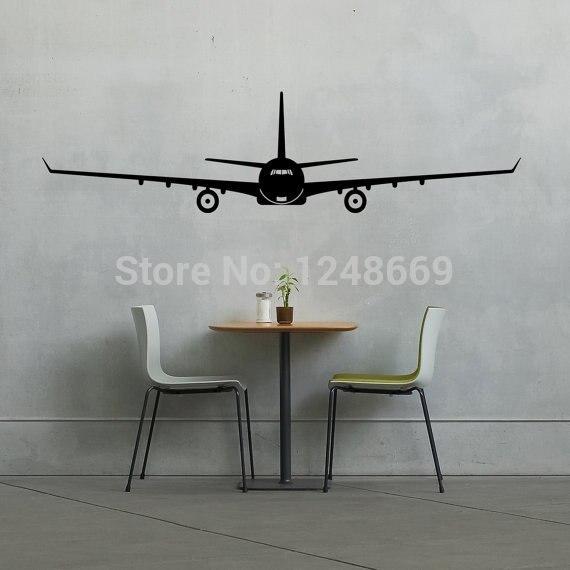 인 가족 아이 방 벽화 여행 비행 비행기 공군 파일럿 벽 비닐 데칼 스티커 재미 아트 장식