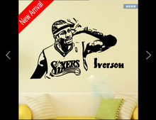 Basketball player of 76 Allen iverson Wall art Decal sticker home decor Stickers For Kids Room Vinilos Paredes