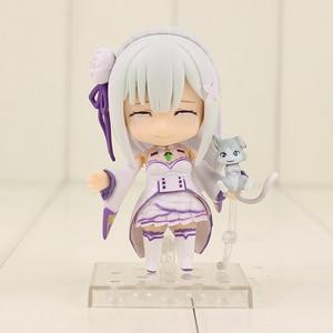 Image 4 - 10cm anime re: vida em um mundo diferente do zero emilia figura 751 q versão pvc figura de ação colecionável modelo de brinquedo