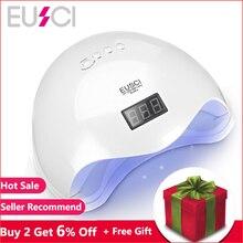 EUSCI 48 W UV Lampe LED Nail Lampe Nail Sèche-Pour Tous Les Gels Polonais Avec Détection à Infrarouge 10/30 /60 s Minuterie Smart touch bouton