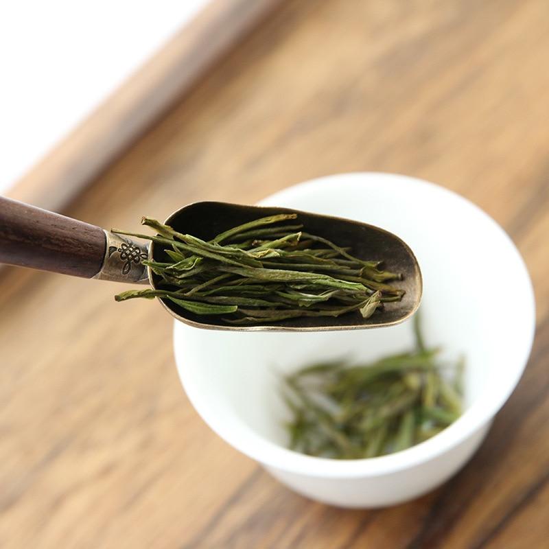 Unibird 1 шт., китайская медная чайная ложка Kongfu с черной ручкой, мощная ложка для кофе, сахарная ложка, держатель для чайных листьев, аксессуары для чая