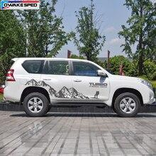Виниловая наклейка на 4 колеса с Горным приводом для Toyota Prado Land Curies, уличная спортивная наклейка s, наклейка для боковой отделки двери автомобиля