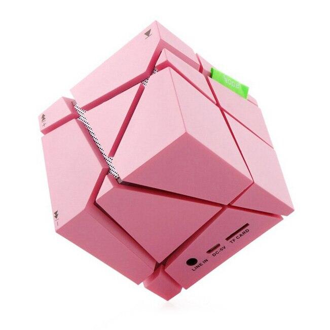Компания светодиодный Творческий Портативный <font><b>Cube</b></font> Типа <font><b>Bluetooth</b></font> Динамик розовый