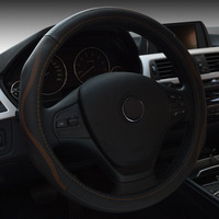 Personalized Car Steering Wheel Cover Genuine Leather Soft Auto High Quality Steering Wheel Diameter 38cm
