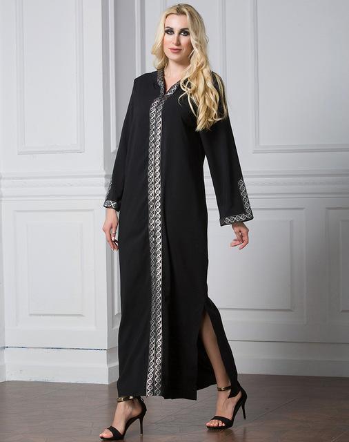 Abayas for Women Hooded Robe Plus Size 7XL  Split Dress