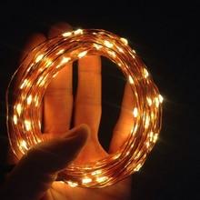 Гирлянды светодиодные свет Новогодние товары огни 2 м 3 м Медный провод гирляндой Водонепроницаемый Батарея Освещение строка для Свадебная вечеринка украшения