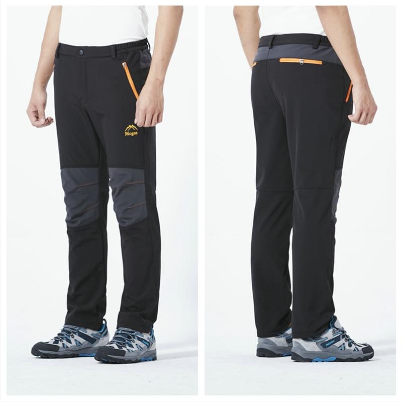 Moligh doll Hiver Hommes Femmes Pantalon de Randonn/éE en Plein Air Pantalon Softshell Imperm/éAble Coupe-Vent pour Camping Ski Escalade L