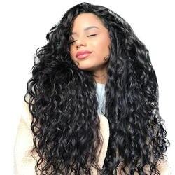 Свободная волна парик 13x6 Синтетические волосы на кружеве Парики Бразильский 250% плотность Синтетические волосы на кружеве человеческих