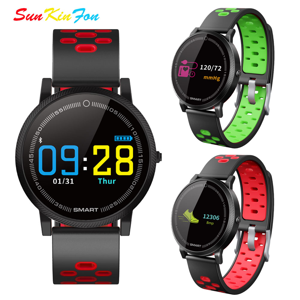 S21 Color Screen Smart Sport Bracelet Heart Rate Fitness Tracker Smart Wristband Blood Pressure Watch for Huawei P20 Pro P10 Pro