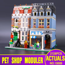 City Street Creator Pet Shop Supermarket Model LEPIN 15009 Building Block Kids Toy Gift Minifigure Compatible with  10218