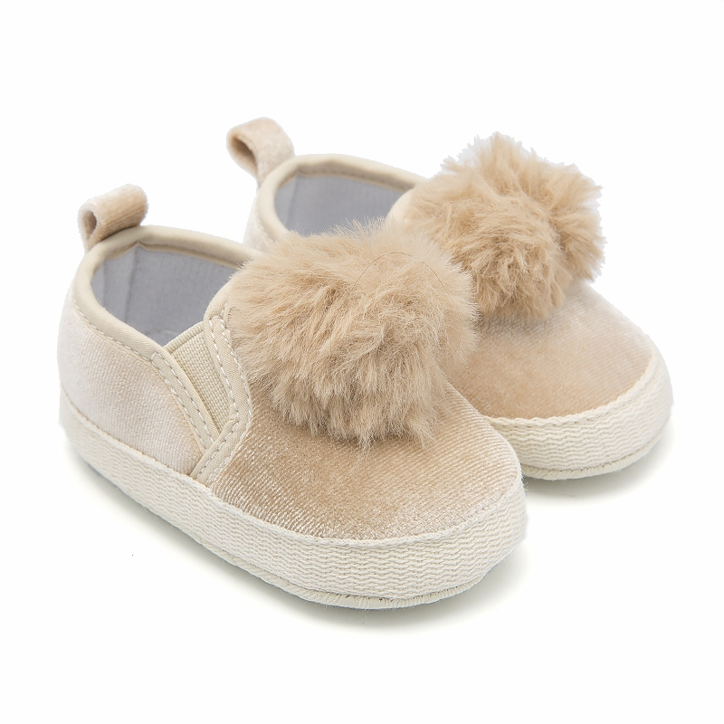 Newborn Baby Moccasins Schoenen Beige Slip-on Pompon Shoes For Baby Girl Kid Casual Shoes Pram Booties Toddler Loafers 0-18M dpx 2 s zs 14 vibration eco friendly transit 72v3000w electric horizon large car electric bicycle