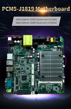 wholesale industrial itx motherboard integrated intel celeron quad core processor J1900 for Queuing machine motherboard