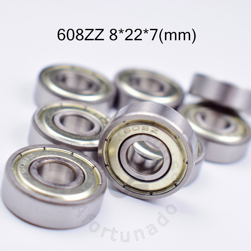 608 608ZZ 8*22*7(mm) 10pieces  bearing free shipping  ABEC-5 bearings metal Sealed Bearing 608 608Z 608ZZ chrome steel bearings