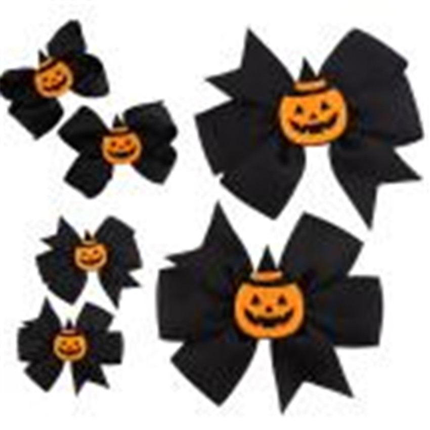2018 1 Pair Fashion Halloween Toddler Kids Girls Bowknot Hairpin Sweet Headdress Hair Style accessories #0314 a A