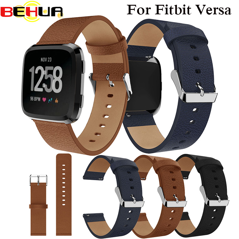 BEHUA Replacement Watch Band Leather Wrist Watchband Strap Bracelet Belt For Fitbit Versa Smart Watch Wristband 2018 New Arrival