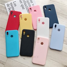 for samsung galaxy A50 A30 A10 A40 A70 M30 M20 M10 A2 CORE A40S case matte candy color silicone tpu phone back cover funda(China)