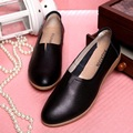 WHITE+BLACK+BROWN Big Size(35~40) New Spring 2016 Genuine Leather Women Shoes Loafers Leisure Ballet Flats For Women