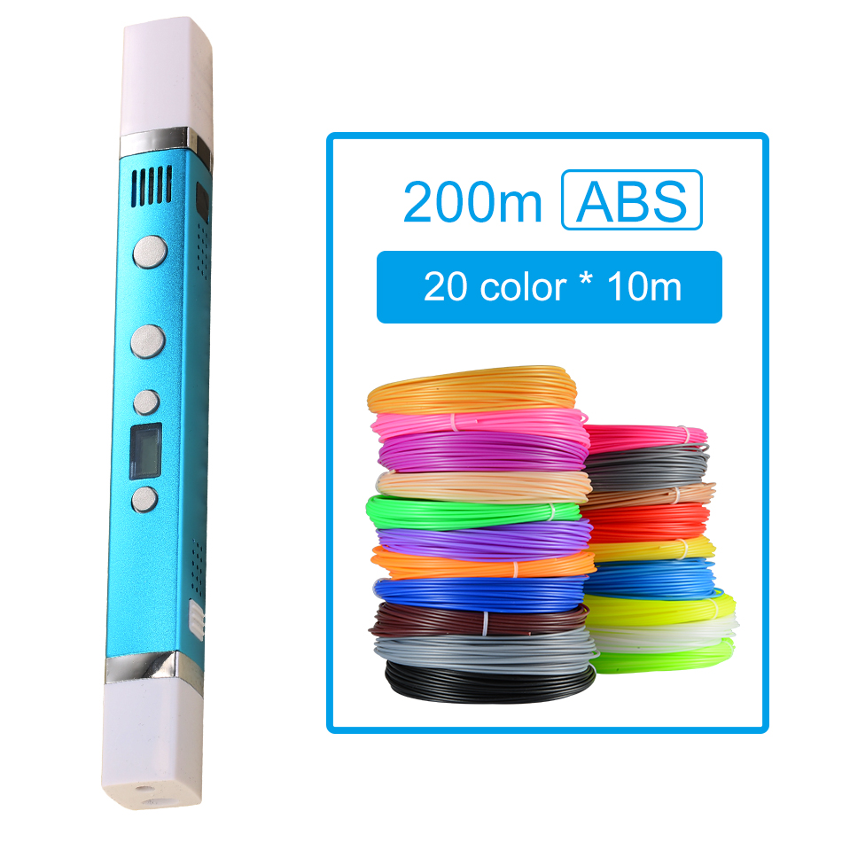 Myriwell 3D Pen USB Charging 3D Printing Pen 200M ABS Filament LED Screen Doodle Creative Toy