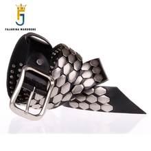 FAJARINA Qualität 38mm Einzigartiges Design Mode Unisex Retro Gürtel Schuppig Hip Hop Gürtel für Männer Frauen Jean Herren Lederner NW0039
