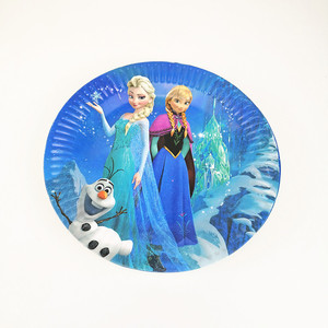 Image 4 - 83Pcs Disney Frozen Theme Cup Plate Napkin Kid Birthday Party Decoration Party Event Supplies Favor Items For Kids 10 People use